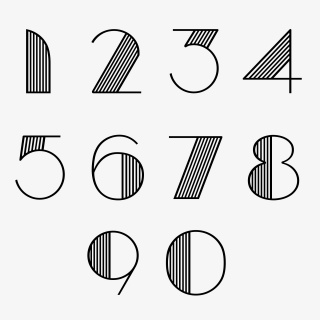 线条艺术数字