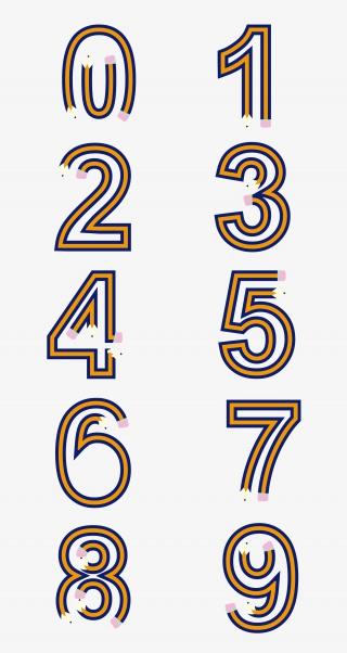 铅笔造型创意数字