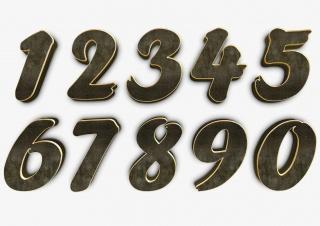 3d质感数字