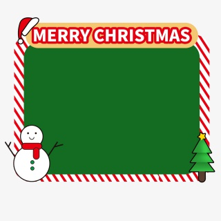圣诞节主题活动气泡框边框