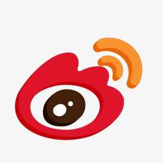微博创意红色2.5D手机appLOGO图标
