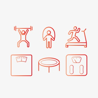 健身减重图标合集