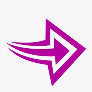 紫色向右箭头