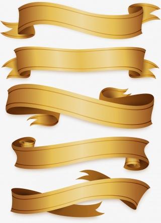 精致的金色彩带