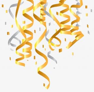 金纸屑金彩带素材