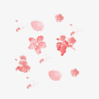 飘落的樱花花瓣元素