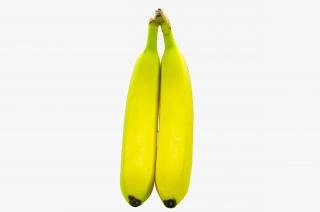 香蕉两根新鲜水果实拍免抠PNG图片