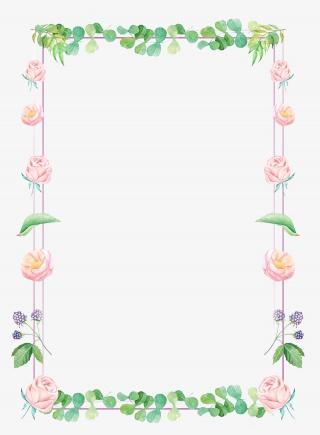小清新鲜花花朵花边框免扣素材PNG