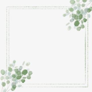 水墨边框中国风植物