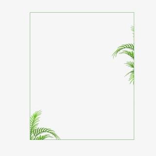 绿色边框绿叶相框框架装饰花边元素