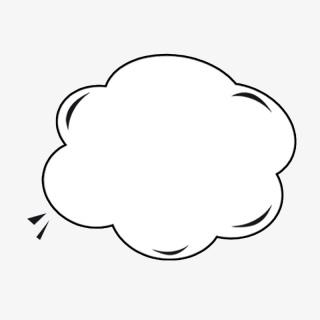 黑白云朵对话框