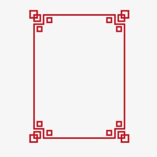 现代中国风红色时尚精美边框