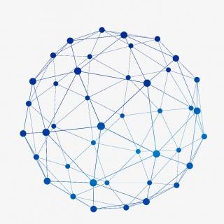 矢量点线结构科技球形