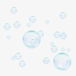 透明白色漂浮装饰卡通手绘气泡泡泡元素