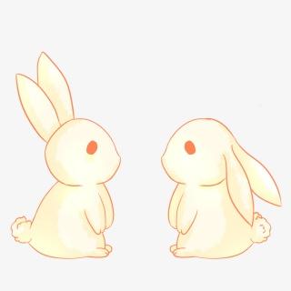 手绘可爱玉兔插画中秋