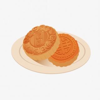 中秋节吃月饼矢量元素中秋