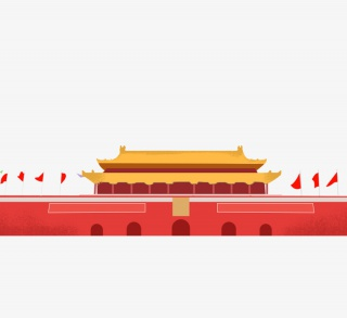 中国国旗天安门建筑
