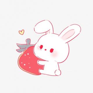 小白兔草莓素材