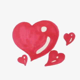 情人节粉色爱心手绘素材