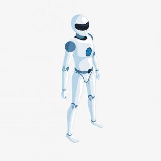 2.5D人工智能概念机器人