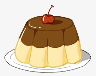 创意手绘焦糖布丁甜点美食零食卡通可爱