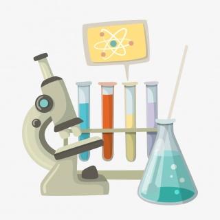 卡通手绘化学生物实验器材