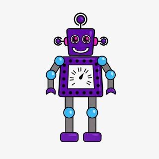 可爱机器人卡通插画