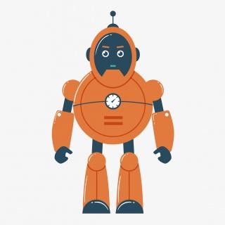 卡通可爱的机器人矢量素材