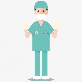 手术室医生卡通图