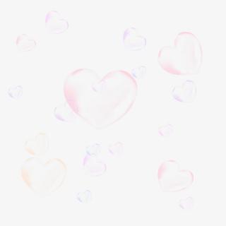 卡通红色气泡装饰漂浮半透明元素