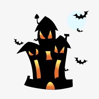 万圣节鬼屋城堡插画