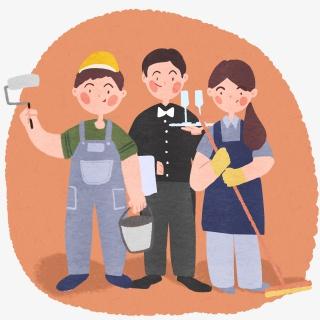 劳动节劳动人民热爱工作敬业