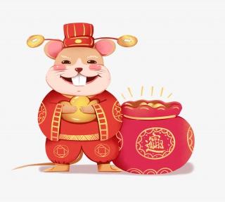 鼠年财神鼠恭喜发财元素素材