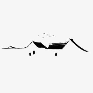 中国风水墨徽派建筑元素