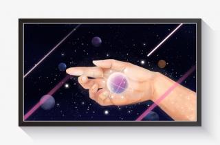 手中的星星宇宙星空插画