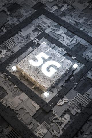 5G科技质感科幻C4D背景