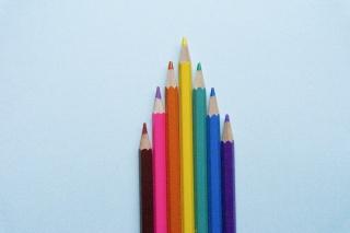 彩色铅笔摄影特写