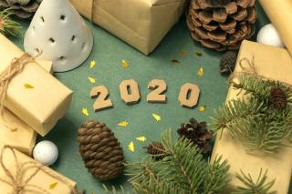 2020年圣诞跨年背景
