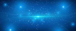 蓝色商务电子科技蓝色渐变海报背景