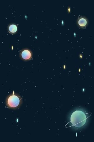 彩色创意科技星球背景
