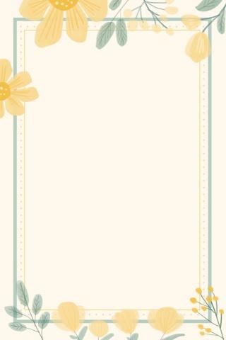 手绘植物边框小清新文艺花卉背景