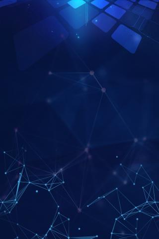 蓝色光效科技线条点线连接简约海报背景