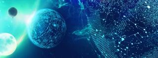 科技风世界移动科技大会宇宙星空海报