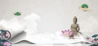 中国风佛禅创意设计水墨海报