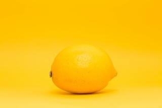 柠檬黄纯色背景图片