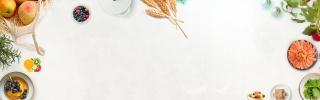 白色简约食物水果装饰食品茶饮海报背景