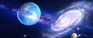 唯美宇宙星球星空背景