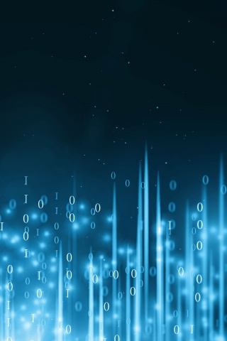 蓝色粒子大数据科技背景