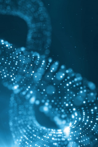 蓝色粒子科技背景