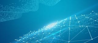 蓝色科技粒子Banner背景